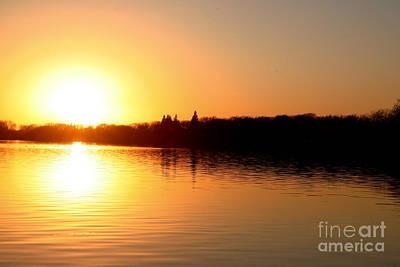 Photograph - Sunset On West Lake Okoboji by Amelia Painter