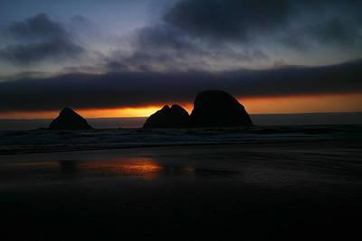 Sunset Oregon Coast Art Print