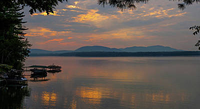 Quebec Photograph - Sunset Over A Lake, Knowlton, Quebec by Panoramic Images
