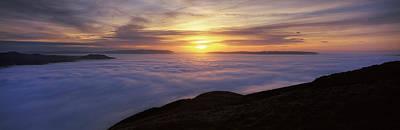 Sunset Over A Lake, Loch Lomond, Argyll Art Print