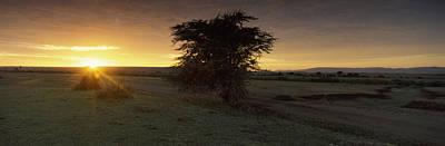 Sunset Over A Landscape, Masai Mara Art Print