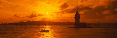 Bosphorus Photograph - Sunset Over A River, Bosphorus by Panoramic Images