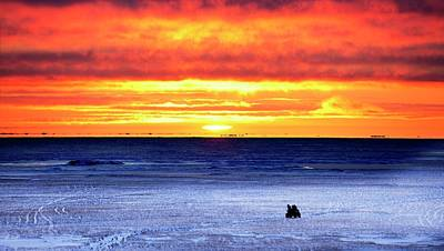 Beaufort Photograph - Sunset Over Beaufort Sea Alaska by Chris Madeley