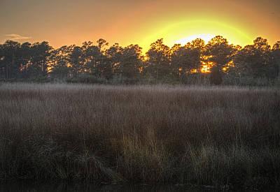 Digital Art - Sunset Over Billys Bayou by Michael Thomas