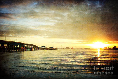 Sunset Over Biloxi Bay Art Print by Joan McCool
