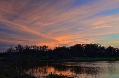 Photograph - Sunset Over Blue Lake 1 by Ricardo J Ruiz de Porras