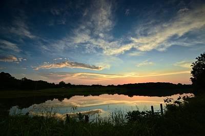 Photograph - Sunset Over Blue Lake 2 by Ricardo J Ruiz de Porras