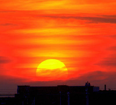 Photograph - Sunset Over Boston by Caroline Stella
