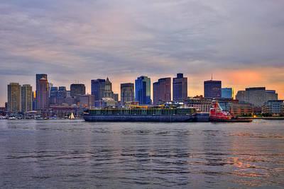 Photograph - Sunset Over Boston Skyline by Joann Vitali