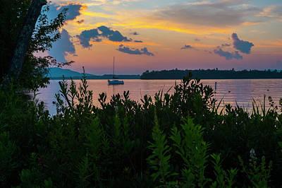 Sunset Over Brome Lake  Quebec, Canada Art Print