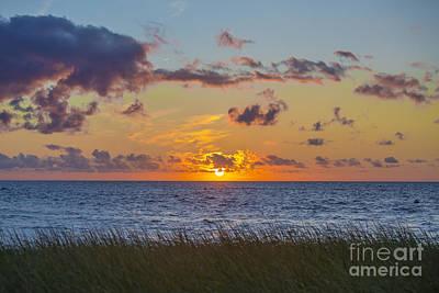 Sunset Over Cape Cod Bay Art Print by Diane Diederich