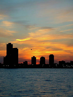 Photograph - Sunset Over Chicago 0349 by Guy Whiteley