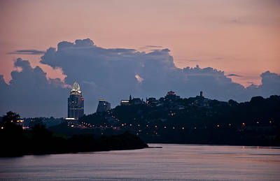 Sunset Over Cincinnati Art Print
