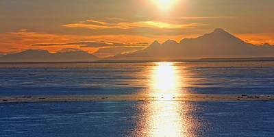 Photograph - Sunset Over Cook Inlet 2 by Jenny Hudson