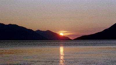 Sunset Over Cook Inlet Alaska Art Print