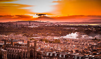 Photograph - Sunset Over Edinburgh by Matthew Onheiber