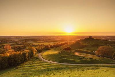 Photograph - Sunset Over English Countryside by Verity E. Milligan