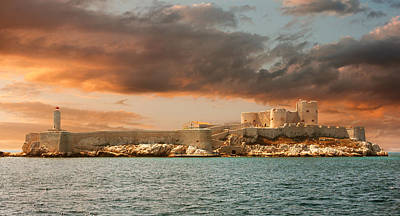 Photograph - Sunset Over Famous If Castle In Marseille by Gurgen Bakhshetsyan