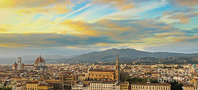 Photograph - Sunset Over Florence by David Warrington
