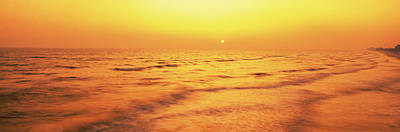Sunset Over Gulf Of Mexico, Panama City Art Print by Panoramic Images