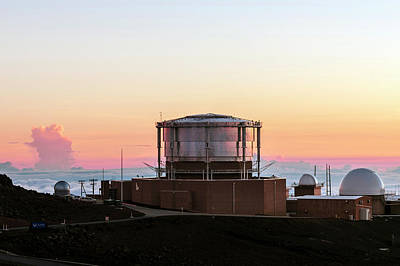 Sunset Over Haleakala Observatories Art Print