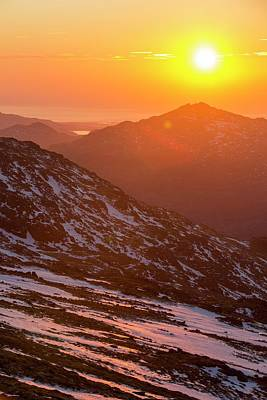 Sunset Over Harter Fell Art Print by Ashley Cooper
