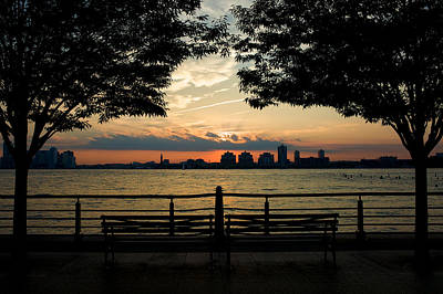 Photograph - Sunset Over Hoboken by Cornelis Verwaal