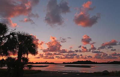 Photograph - Sunset Over Hog Island by Jean Clark