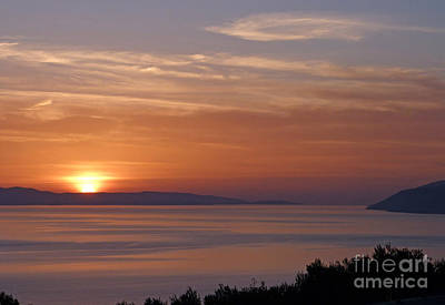 Photograph - Sunset Over Hvar - Croatia by Phil Banks