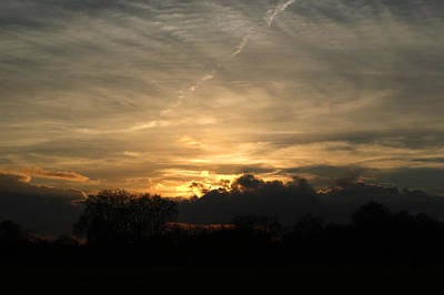 Negative Space - Sunset over Hyde Park by Chris Day