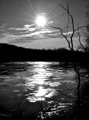Photograph - Sunset Over Icy Lake by Michelle McPhillips
