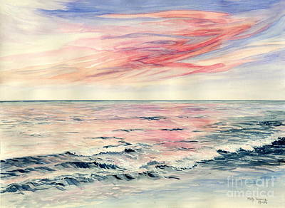Painting - Sunset Over Indian Ocean by Melly Terpening