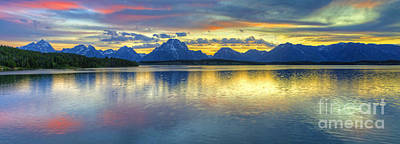 Photograph - Sunset Over Jackson Lake by Deby Dixon