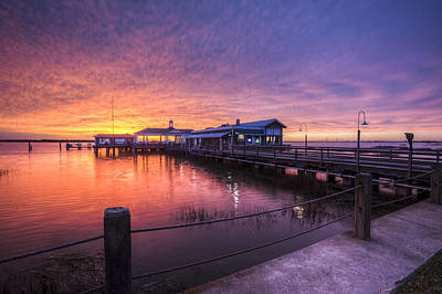 St. Simons Island Photograph - Sunset Over Jekyll Island by Debra and Dave Vanderlaan