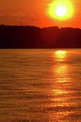 Amazon River Photograph - Sunset Over Jurua River, State by Fernanda Preto
