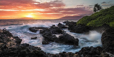 Sunset Over Kahoolawe Print by Hawaii  Fine Art Photography