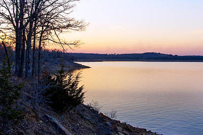 Wall Art - Photograph - Sunset Over Keystone Lake by Daniel Kleefeld