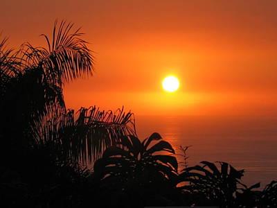 Sunset Over Kona Hawaii Art Print by Sabine Edrissi