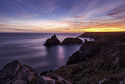 Sunset Over Kynance Cove Art Print
