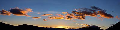 Sunset Over Lago Del San Pablo Art Print