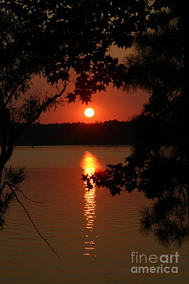 Photograph - Sunset Over Lake by D Wallace