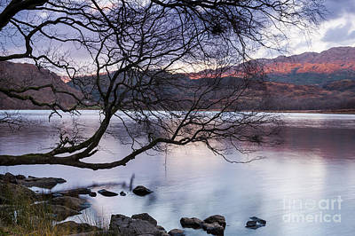 Photograph - Sunset Over Lake Dinas by Trevor Chriss