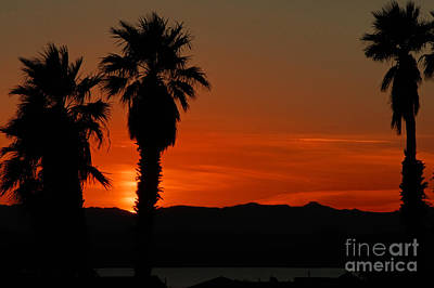Sunset Over Lake Havaus   Art Print