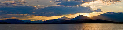 Photograph - Sunset Over Lake Pend Oreille by Marie-Dominique Verdier