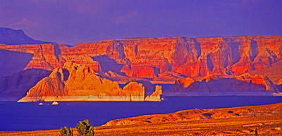 Through The Viewfinder - Sunset Over Lake Powell by Rich Walter