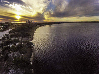 Digital Art - Sunset Over Lake Shelby by Michael Thomas