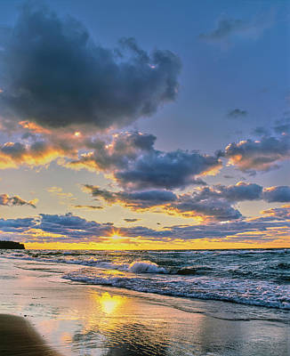 Alger Photograph - Sunset Over Lake Superior, Keweenaw by Panoramic Images