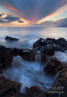 Cauldron Photograph - Sunset Over Lanai by Mike  Dawson