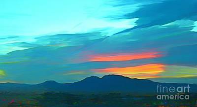 Sunset Over Las Vegas Hills Print by John Malone