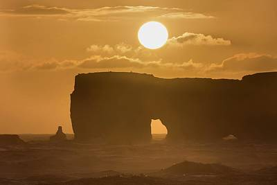 Portal Photograph - Sunset Over Lava Arch by Dr Juerg Alean